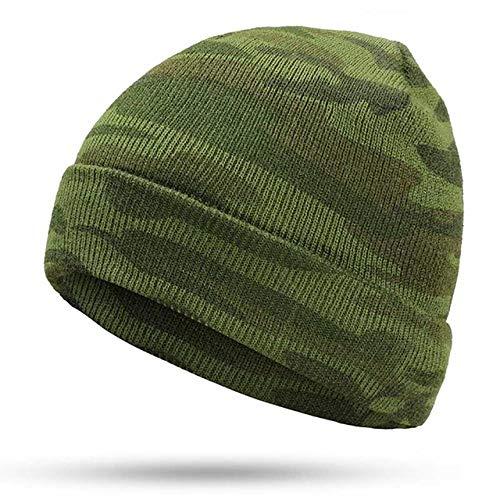 XCLWL Beanie dames muts winter heren gebreide mutsen merk winter warm camouflage outdoor camping legerwarrior mannelijk schedel turban cap katoen