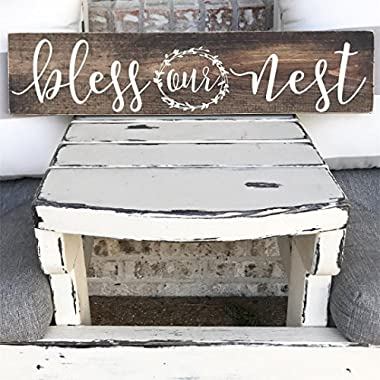 Bless Our Nest - Bless This Nest - Wooden Sign - Rustic - Wall Decor - Farm house