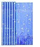 Rollo papel de regalo 60g Tradicional, Star Paper, Tamaño 1,5x0,70m, Color Azul con estrellas doradas