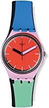 Swatch Originals A Cote Red Dial Silicone Strap Unisex Watch GB286