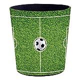 Yavso Papierkörbe, 10L Wasserdicht Kinder Papierkorb Fußball Mülleimer Abfalleimer für Büro/Schlafzimmer/Kinderzimmer, 27x25x20 cm