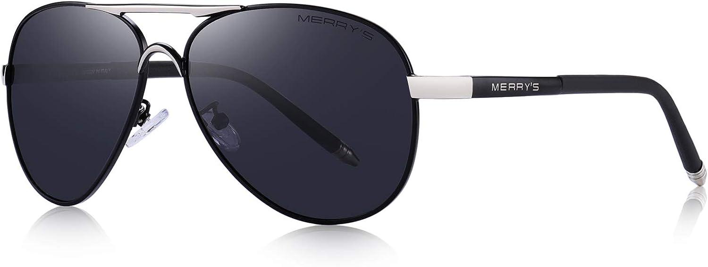 MERRY'S Men's Polarized Driving Sunglasses For Men Unbreakable Frame UV400 S8513