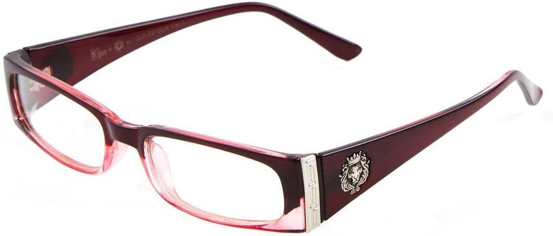 Kleo Lion Head Slim Rectangular Eyeglasses Clear Lens Sunglasses  Frames