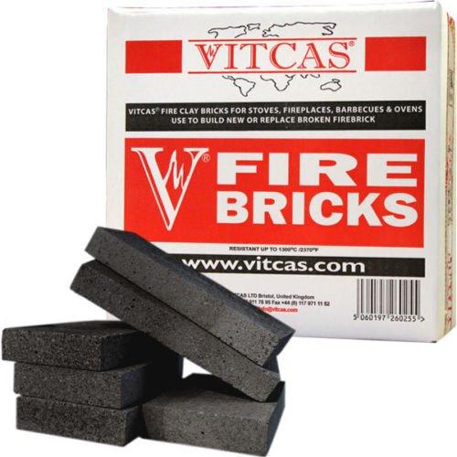 VITCAS Fire Bricks BLACK for Fireplaces & Stoves