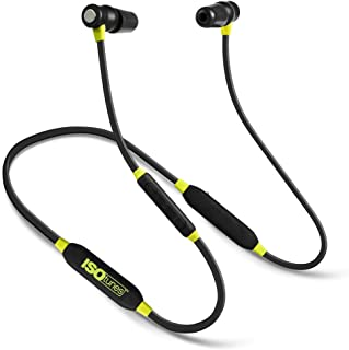 ISOtunes Xtra Bluetooth Earplug Headphones, 27 dB Noise Reduction Rating, 8 Hour Battery, Noise Cancelling Mic, OSHA Compliant Bluetooth Hearing Protector (Black & Yellow)