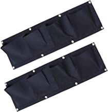 YARNOW Hanging Planter Bags| Wall Mounted Grow Bags, 2 Pack 4 Pocket Vertical Garden Wall Planter for Yards, Apartments, B...