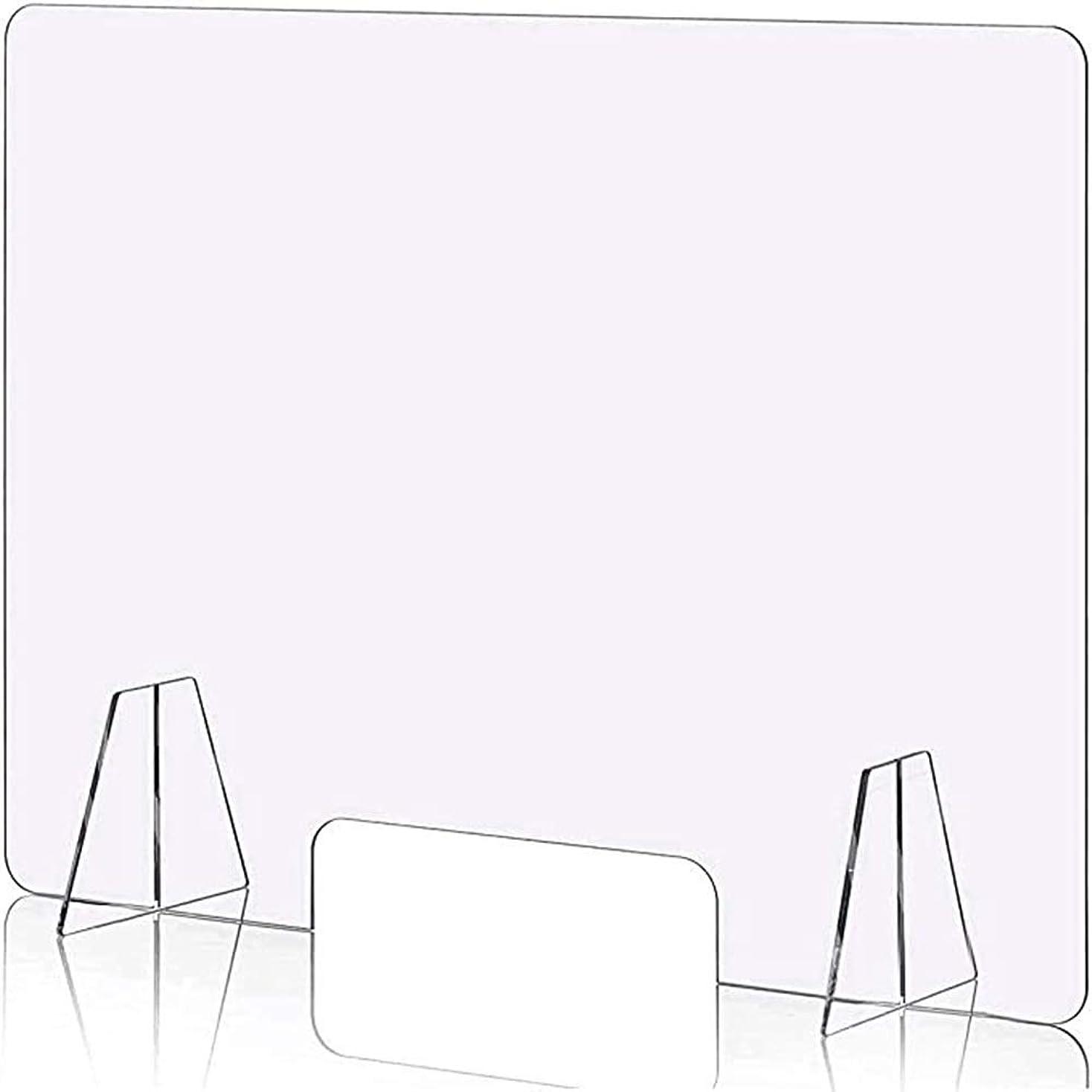 食欲ファンネルウェブスパイダーセージBENBOERMEI 飛沫防止 透明アクリルパーテーション デスク用仕切り板 約 W800mm*H600mm*4mm デスク用スクリーン 衝立 間仕切り 角丸加工 設置簡単 衝立 飲食店 オフィス 学校 病院 薬局