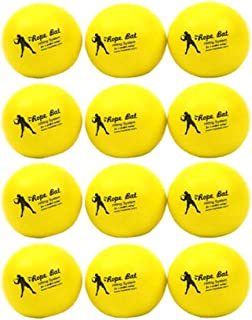Rope Bat Smushballs - Baseball & Softball Lightweight, Soft, Foam Training Balls - Indoor/Outdoor/Anywhere Batting Practice (Pack of 6 & 12)