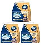 Catsan Ultra Plus Klumpstreu klumpendes Katzenstreu, 3 Packungen (3 x 10l)