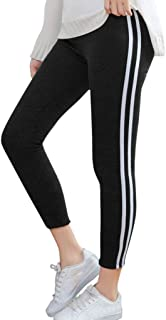Leggings for Women Workout Yoga Skinny Pant High Waist Side Striped Sports Casual Tights