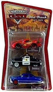 Disney/Pixar Cars Die-Cast Vehicle 3-Pack (Cactus Lightning McQueen, Sheriff, and Dirt Track Doc Hudson)