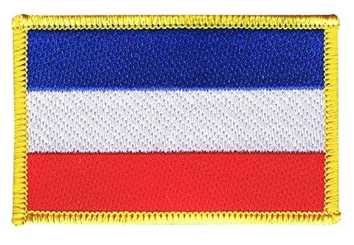 Flaggenfritze Flaggen Aufnäher Serbien & Montenegro Fahne Patch + gratis Aufkleber