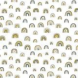 Baumwollstoff Meterware ab 50cm Regenbogen Konfetti
