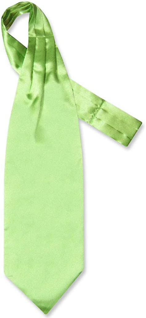 Biagio ASCOT Solid LIME GREEN Color Cravat Men's Neck Tie