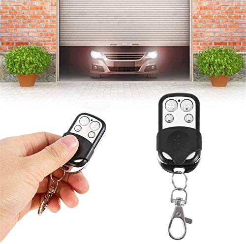 Remote Control Duplicator All Remotes, Wireless Cloning Remote Control Key Fob, Metal Four-button ABCD Key Control Remote, with Anti-theft/one-click 433mhz Electric Door Opener Key Fob (2PCS)