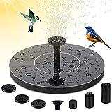 HOSPAOP Solar Springbrunnen, Solar Teichpumpe mit 4 Effekte Garten Solar Wasserpumpe, Solar schwimmender Fontäne Pumpe für Gartenteich Oder Fisch-Behälter Springbrunnen Vogel-Bad