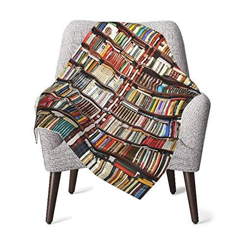 Plush Fleece Throw & Receiving Many Book Bookshelf Baby Blankets for Boys and Girls Fleece Plush Blanket for Nursery Crib Stroller Toddler Bed Carseat 30x40