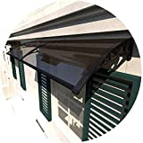 WQL Techo Puerta Principal Cubierta de Techo Puerta Principal Cubierta de Lluvia Lluvia protección Solar película de policarbonato Bricolaje Refugio Solar bajo -120x100cm
