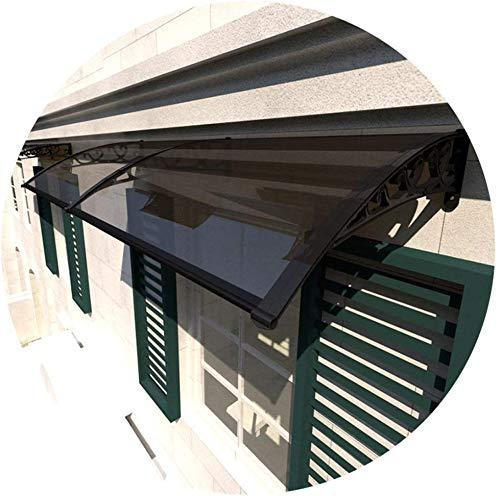 WQL überdachung haustür Vordach Türdach Haustürvordach Regen Sonnenschutz Polycarbonat-Folie DIY Sun Shelter Niedriges Dezibel Dach Regenschutz-80x120cm