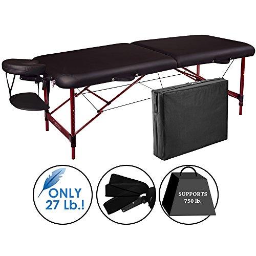 Master Massage Zephyr Massageliege 71cm aus leichtem Aluminium Ideal zum Transportieren für Praxis Wellness Spa in Schwarz