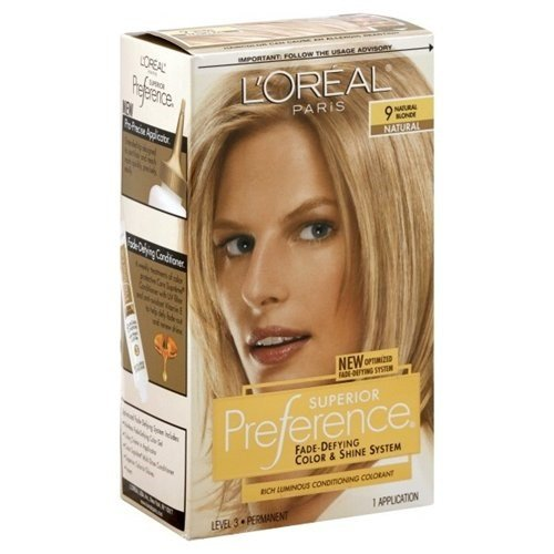 LOreal Superior Preference Hair Color 9 Natural Blonde, 1 each (Pack of 3)