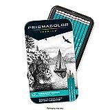 Prismacolor 24192 Premier Turquoise Graphite Sketching Pencils, Medium Leads, 12-Count