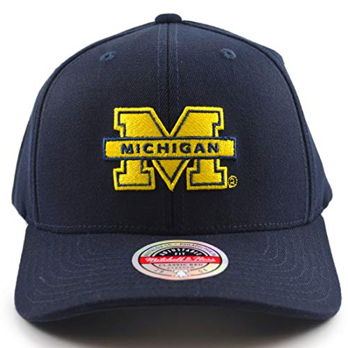 Mitchell & Ness NCAA Logo University of Michigan Navy Snapback - Gorra