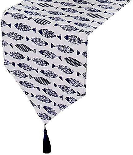 NTUOO Tavolo Runner Minimalista Runner con Le Nappe, for l'hotel Domestico Cucina Tavolo da Pranzo Runner Mat, 7 Dimensioni Opzionale .Tappetino (Color : Style2, Size : 30x240cm)