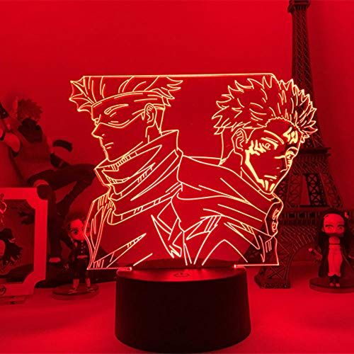 3D Led Night Light Talbe Illusion Lamp Anime Jujutu Kaisen for Room Decoration Children Christmas Birthday Present On Desk-No Remote