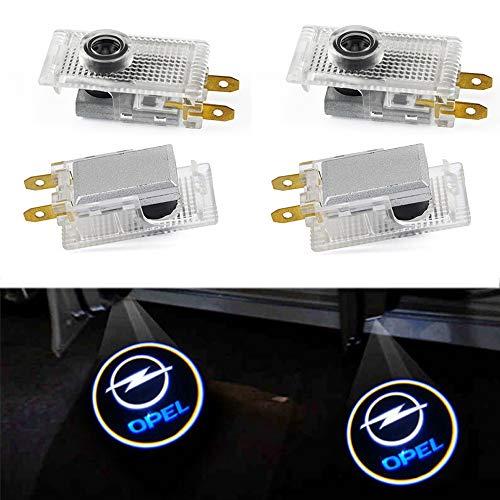 XIUJINGHONG 4 stuks auto logo schaduw licht projectieverlichting welkom