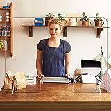 SZYW Mampara De Protección Plexiglás Acrílico Divisor De Escritorio Protección Pantalla Barrera para Oficinas, Coworking,...