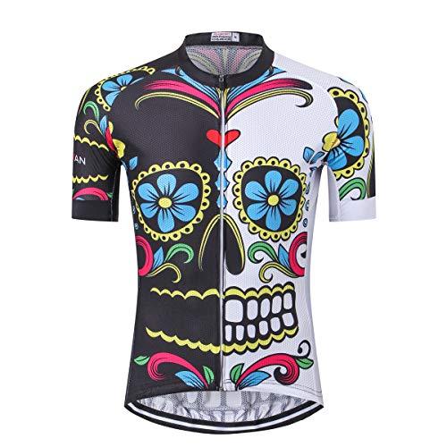 Herren Radtrikot Männer Kurzarm Bike Shirt Tops, M-XXXL - - Etikett 3XL / Brust 104/ 108 cm