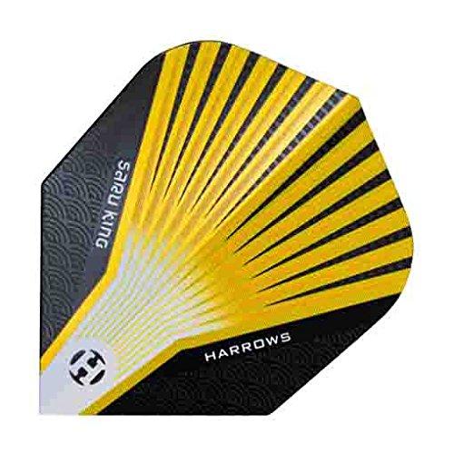 Harrows Darts Flights Prime Yellow saru King