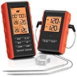 Wireless Meat Thermometer, Tranmix Remote Digital Cooking Food Meat Thermometer with Dual Probes for...