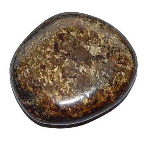 Bronzit flacher Trommelstein Handschmeichler ca. 35-45 mm gute Steinqualität und Polierung.(3456)