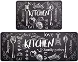 Pauwer Anti Fatigue Kitchen Mat Set of 2 Comfort Heavy Duty Standing Mats