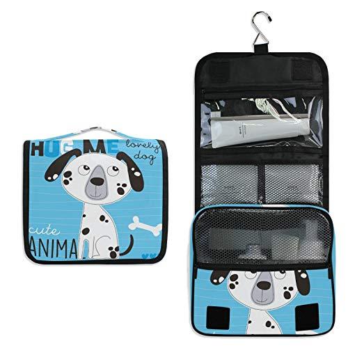 Cachorro De Perro Lindo Azul Bolsa de Aseo Colgante Organizador Cosmético de Viaje Ducha Bolsa de Baño Neceser de Viaje para Maquillaje niñas Mujeres