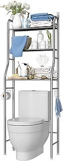 LSHOME Acero inoxidableEstante de baño de Muebles Estante de la lavadoraEstante de bañoEstante para Inodoro con 3 estantes...