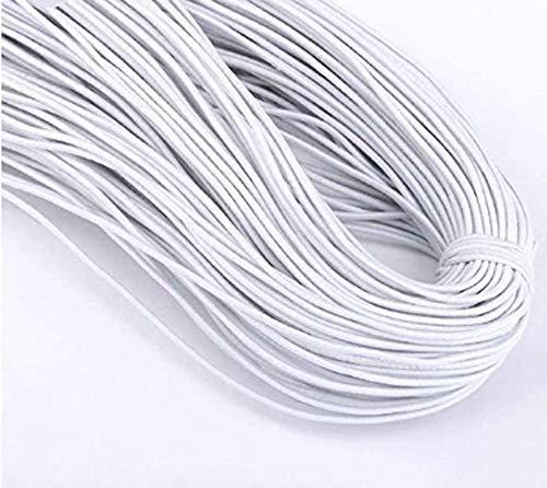 Gummikordel Gummiband weiß | 2 mm stark | 5 Meter am Stück | Gummizugschnur