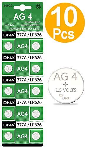 Pilas para reloj, paquete de 10 unidades, tamaño AG4, LR626, 377, SR626, 606