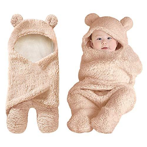 Baby Swaddle Blankets Newborn Boys Girls Clothes Unisex Winter Swaddle Blankets Baby Shower Gifts 0-6 M Brown