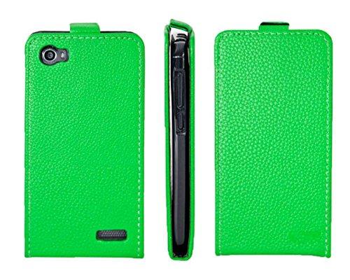 caseroxx Flip Cover für Medion Life E4506 MD 99478, Tasche (Flip Cover in grün)