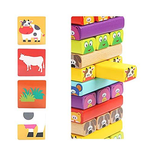 Starter Tour de culbute, La tour extra-longue pour enfants de plus en plus haute Puzzle Blocks Jouets Jeu d'interaction adulte parent-enfant pour enfants Jouet empilable dans la tour.