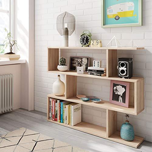 MarinelliGroup Libreria scaffale Multiuso Rovere con Ripiani 110 X 25 X 97 cm Salone Studio Camera - 301010F