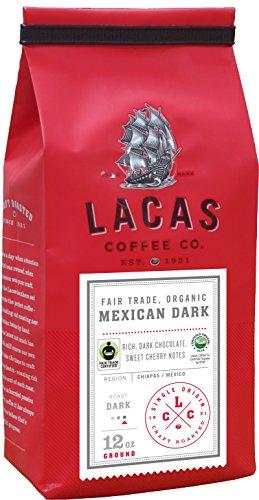 Lacas Coffee Company Fair Trade Organic Mexican Dark - Chiapas Whole Bean 12 oz.