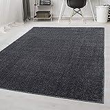 Carpetsale24 Tapis Design Tapis Moderne uni à Poil Court, Couleur:Gris, Dimension:160x230 cm
