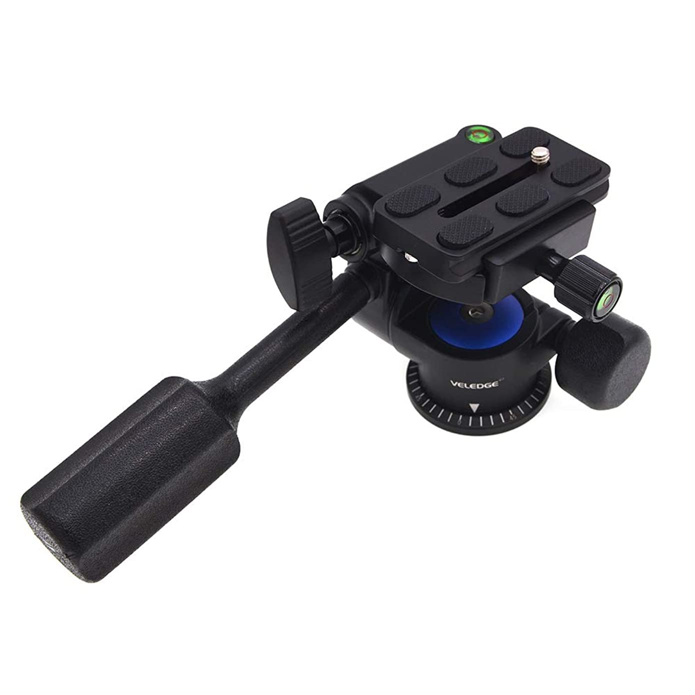 Zehui VELEDEG VD-08 3D Panoramic Tripod Fluid Drag Pan Head for Tripod Monopod Slider DSLR Cameras