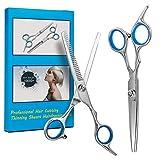 Beyond Kit de coupe de cheveux professionnels en acier inoxydable avec ciseaux à cheveux pour coiffure, 17,5 cm