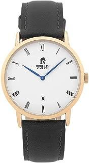 Bevilles Roberto Carati Vincent Black Rose Watch SS292-V3 Leather Date SS292-V3
