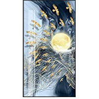 dayanzai モダンニュー中国風景 秋の月キャンバス絵画ポスターとプリントユニークな装飾壁アート写真 リビングルームの通路用 75x140cm フレームなし